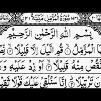 Surah Al-Muzzammil, The Enshrouded One, Sheikh Abdur-Rahman As-Sudais, 73-سورۃ المزمل